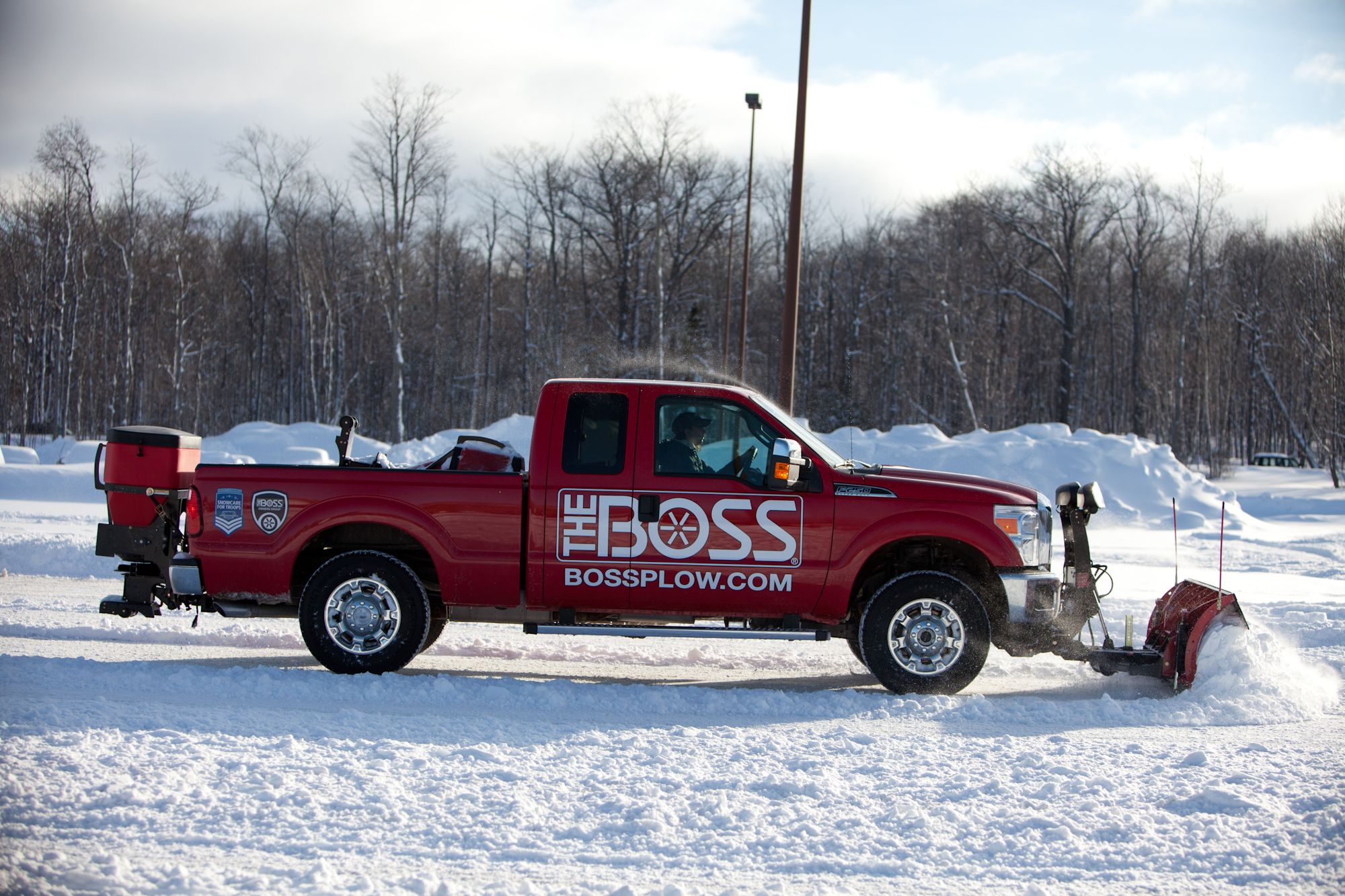 Boss Plow with Truck